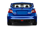 Straight rear view of a 2017 Subaru WRX STI Sport Premium 4 Door Sedan stock images