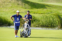Rory McIlroy (Team Europe) on the 10th during the friday foursomes at the Ryder Cup, Le Golf National, Ile-de-France, France. 28/09/2018.<br /> Picture Fran Caffrey / Golffile.ie<br /> <br /> All photo usage must carry mandatory copyright credit (© Golffile | Fran Caffrey)