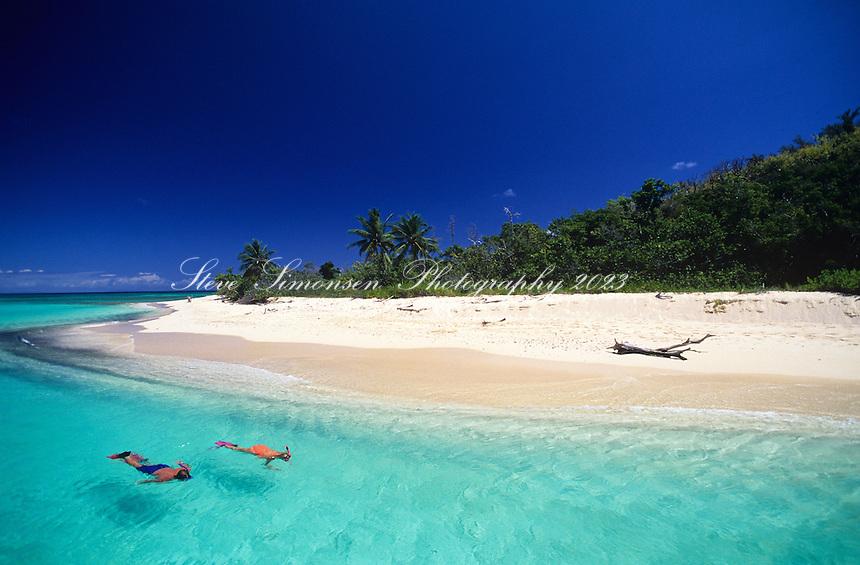 Snorkelers<br /> Buck Island National Monument <br /> St Croix US Virgin Islands