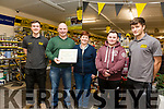 Dalys Expert Hardware Murreigh, Waterville with their award for Best Medium Store Award pictured here l-r; Kieran Coughlan, James & Geraldine Daly, Sean Daly & Jamie O'Sullivan.