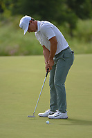 Thorbjorn Olesen (DEN) sinks his birdie putt on 14 during the round 1 of the AT&T Byron Nelson, Trinity Forest Golf Club, Dallas, Texas, USA. 5/9/2019.<br /> Picture: Golffile | Ken Murray<br /> <br /> <br /> All photo usage must carry mandatory copyright credit (© Golffile | Ken Murray)