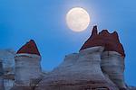 Moonrise over Moenkopi Wash ©2016 James D Peterson.  This otherworldly landscape is near Tuba City, Arizona.