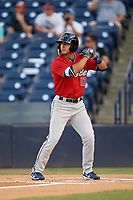 Fort Myers Miracle left fielder Mark Contreras (12) at bat during a game against the Tampa Tarpons on May 2, 2018 at George M. Steinbrenner Field in Tampa, Florida.  Fort Myers defeated Tampa 5-0.  (Mike Janes/Four Seam Images)