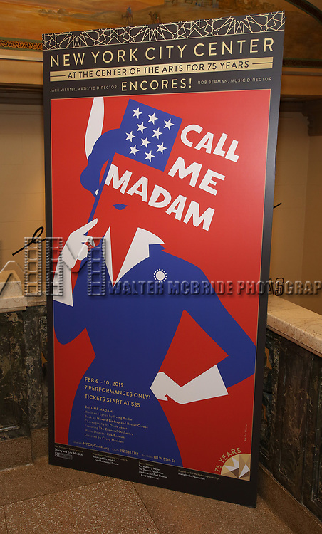 """The closing Night performance reception for Encores! """"Call Me Madam"""" at City Center on February 10, 2019 in New York City."""