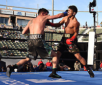 """CARSON, CA- MARCH 9: DAMIEN VAZQUEZ vs JUAN CARLOS PAYANO fight during the Fox Sports """"PBC on Fox"""" Fight Night at Dignity Health Sports Park on March 9, 2019 in Carson, California. (Photo by Frank Micelotta/Fox Sports/PictureGroup)"""