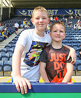 Preston North End fans pose for photos before the match<br /> <br /> Photographer Alex Dodd/CameraSport<br /> <br /> The EFL Sky Bet Championship - Preston North End v Burton Albion - Sunday 6th May 2018 - Deepdale Stadium - Preston<br /> <br /> World Copyright &copy; 2018 CameraSport. All rights reserved. 43 Linden Ave. Countesthorpe. Leicester. England. LE8 5PG - Tel: +44 (0) 116 277 4147 - admin@camerasport.com - www.camerasport.com