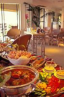Buffet meal at the Four Seasons Wailea, Maui