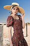 Sunday Mail  fashion with Mirella, Browns Rust , on location St Kilda, Model  Imogen.    Photo: Nick Clayton