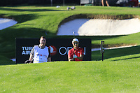 Haotong Li (CHN) prepares to play his 2nd shot on the 17th hole during Thursday's Round 1 of the 2018 Turkish Airlines Open hosted by Regnum Carya Golf &amp; Spa Resort, Antalya, Turkey. 1st November 2018.<br /> Picture: Eoin Clarke | Golffile<br /> <br /> <br /> All photos usage must carry mandatory copyright credit (&copy; Golffile | Eoin Clarke)
