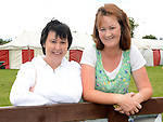 Julie Clarke and Louise Hoey pictured at Ardee Rugby club's Family Fun day. Photo:Colin Bell/pressphotos.ie