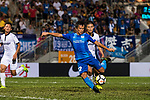 SC Kitchee Forward Kwan Yee Lo (R) attempts a kick during the week two Premier League match between Kitchee and Dreams FC at on September 10, 2017 in Hong Kong, China. Photo by Marcio Rodrigo Machado / Power Sport Images