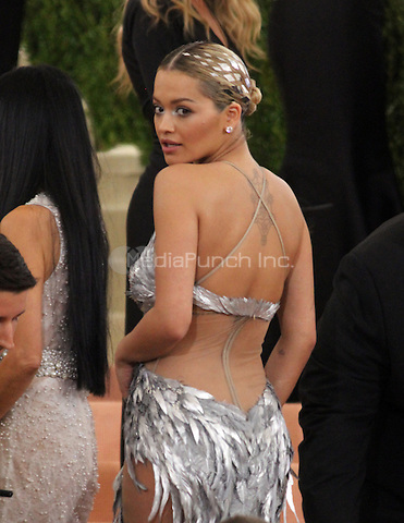 05 02 2016: Rita Ora  at Manus X Machina: Fashion In An Age of Technology at Metropolitan Museum of Art in New York. Credit:RWMediaPunch