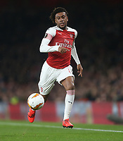 Arsenal's Alex Iwobi<br /> <br /> Photographer Rob Newell/CameraSport<br /> <br /> UEFA Europa League Round of 32 Second Leg - Arsenal v BATE Borisov - Thursday 21st February 2019 - The Emirates - London<br />  <br /> World Copyright © 2018 CameraSport. All rights reserved. 43 Linden Ave. Countesthorpe. Leicester. England. LE8 5PG - Tel: +44 (0) 116 277 4147 - admin@camerasport.com - www.camerasport.com