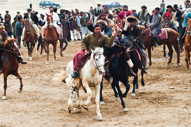 Buzkashi is an ancient game played all over Central Asia, and the national sport of Afghanistan. <br />