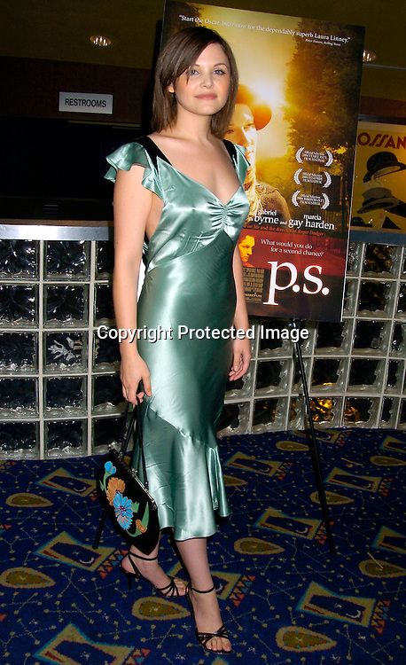 """Ginnifer Goodwin ..at the New York Premiere of """"ps"""" on October 12, 2004 ..at the Clearview Chelsea West. ..Photo by Robin Platzer, Twin Images"""