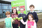 Tadhg, Ava, Joseph and Lucy Brennan with Anna Campbell at the Official Opening of the new Applegreen Service Station on the M1 Southbound at Castlebellingham.....Picture Jenny Matthews/Newsfile.ie