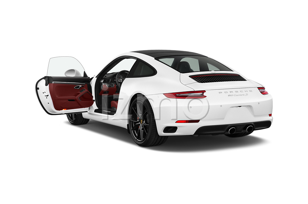 Car images close up view of a 2018 Porsche 911 Carrera S 2 Door Coupe doors