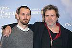 """Raul Arevalo and Alberto San Juan attends the """"Las Ovejas No Pierden El Tren"""" Presentation at Palafox Cinema, Madrid,  Spain. January 27, 2015.(ALTERPHOTOS/)Carlos Dafonte)"""