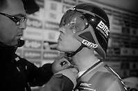 Tour of Belgium 2013.stage 3: iTT..Philippe Gilbert (BEL) getting ready (with fogged up visor)