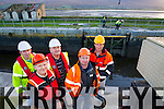 Murty Quirke, Maurice Browne, Frank Hartnett Fergus Kelliher and Sean O'Keeffe Council workers replacing the lock gates at the canal at Blennerville on Tuesday.