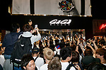 Japanese fans take pictures of Neymar Jr from outside the GaGa MILANO Harajuku store on May 30, 2017, Tokyo, Japan. Many fans gathered in front of GaGa MILANO store in Tokyo's fashion district of Harajuku to get a glimpse of their idol. The Brazilian soccer player is in Japan to promote GaGa Milano watches. The brand is celebrating their 8th anniversary since its launch in Japan. (Photo by Rodrigo Reyes Marin/AFLO)