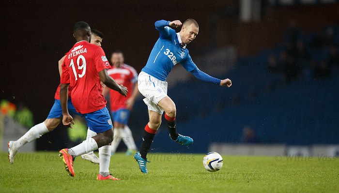 Kenny Miller crosses the ball to an empty stadium