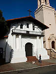 California, San Francisco: Exterior of Mission Dolores, the Spanish mission..Photo #: 26-casanf78510.Photo © Lee Foster 2008