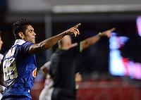 SAO PAULO SP, 20 Julho 2013 - Sao Paulo  X Cruzeiro -  Luan do Cruzeiro comemora primeiro gol durante partida contra o  Sao paulo valida pelo campeonato brasileiro de 2013  no Estadio do Morumbi em  Sao Paulo, neste sabado, 20. (FOTO: ALAN MORICI / BRAZIL PHOTO PRESS).