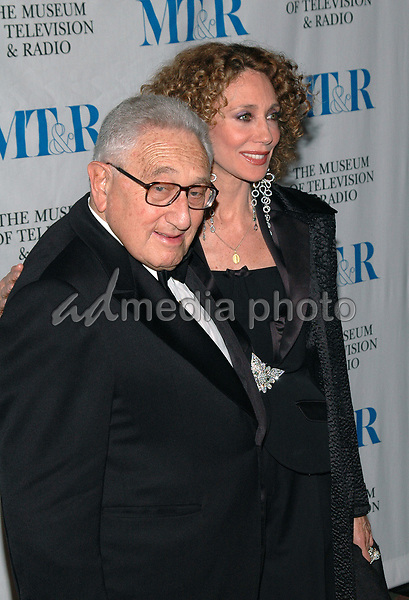 26 May 2005 - New York, New York - Dr. Henry Kissinger and Marisa Berenson arrive at The Museum of Television and Radio's Annual Gala where Merv Griffin is being honored for his award winning career in radio and television.<br />Photo Credit: Patti Ouderkirk