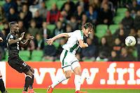 GRONINGEN - Voetbal, FC Groningen - Willem II,  Eredivisie , Noordlease stadion, seizoen 2017-2018, 20-10-2017,   FC Groningen speler Etienne Reijnen waagt schot op doel