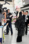 Lady Gaga answers questions from the press upon her arrival at Narita International Airport on November 1, 2016, Chiba, Japan. Gaga returns to Japan for the first time in two years to promote her latest album Joanne. (Photo by Rodrigo Reyes Marin/AFLO)