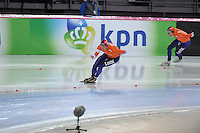 SPEED SKATING: HAMAR: Vikingskipet, 05-03-2017, ISU World Championship Allround, 1500m Men, Sven Kramer (NED), Patrick Roest (NED), ©photo Martin de Jong