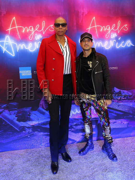 """RuPaul attends the Broadway Opening Night Arrivals for """"Angels In America"""" - Part One and Part Two at the Neil Simon Theatre on March 25, 2018 in New York City."""