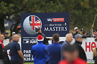 Danny Willett (ENG) on the 13th tee during Round 1of the Sky Sports British Masters at Walton Heath Golf Club in Tadworth, Surrey, England on Thursday 11th Oct 2018.<br /> Picture:  Thos Caffrey | Golffile<br /> <br /> All photo usage must carry mandatory copyright credit (© Golffile | Thos Caffrey)