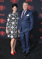 """WESTWOOD - OCTOBER 26: Paul Reiser and wife Paula Ravets at the premiere of Netflix's """"Stranger Things"""" Season 2 at the Regency Village Theatre on October 26, 2017 in Westwood, California. (Photo by Scott Kirkland/PictureGroup)"""