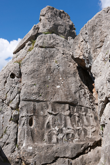 Picture of Yazilikaya [ i.e written riock ], Hattusa  The largest known Hittite sanctuary. 13th century BC made in the reign of Tudhaliya 1V .1