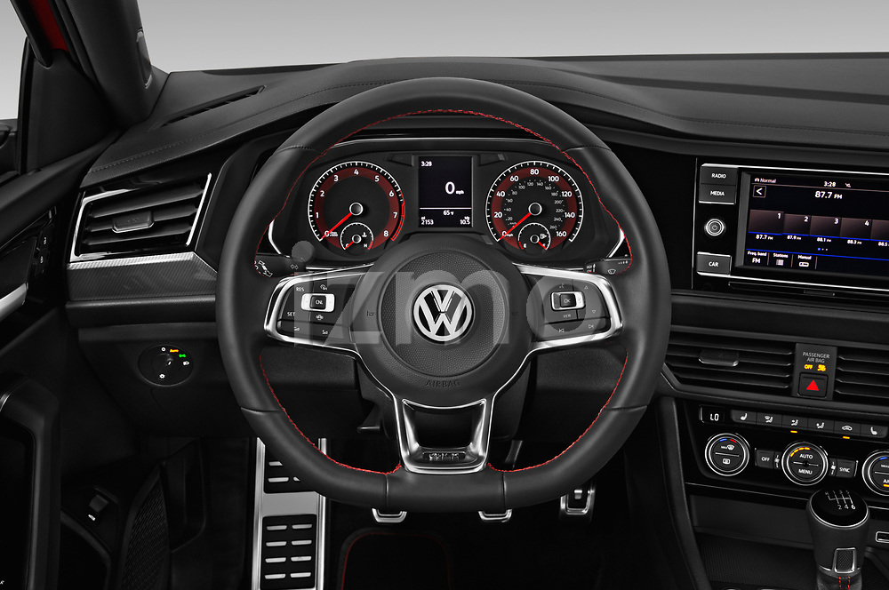 Car pictures of steering wheel view of a 2019 Volkswagen Jetta GLI-S 4 Door Sedan