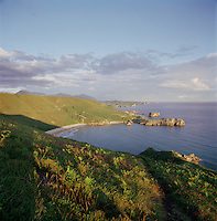 Cliffs and coastline near Cudillero, Asturias, Spain
