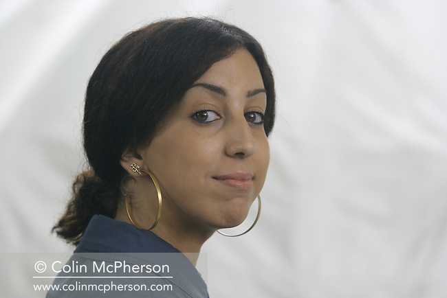 Acclaimed young French-Algerian writer Faiza Guene pictured at the Edinburgh International Book Festival where she talked about her debut novel about a young North African girl in Paris. The Book Festival was the World's largest literary event and featured writers from around the world. The 2006 event featured around 550 writers and ran from 13-28 August.