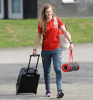 20170725 - TILBURG , NETHERLANDS :  Belgian Elke Van Gorp pictured going back to Belgium as the Belgian national women's soccer team Red Flames was not able to qualify for the quarter finals after a loss against The Netherlands , on Tuesday 25 July 2017 in Tilburg . The Red Flames finished on 3 th place in Group A at the Women's European Championship 2017 in the Netherlands. PHOTO SPORTPIX.BE | DAVID CATRY