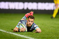 25th July 2020, Christchurch, New Zealand;  Wes Goosen of the Hurricanes scores a try during the Super Rugby Aotearoa, Crusaders versus Hurricanes at Orangetheory stadium, Christchurch
