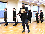 """Alex Newell and cast during a Performance Sneak Peek of The MCP Production of """"The Scarlet Pimpernel"""" at Pearl Rehearsal studio Theatre on February 14, 2019 in New York City."""