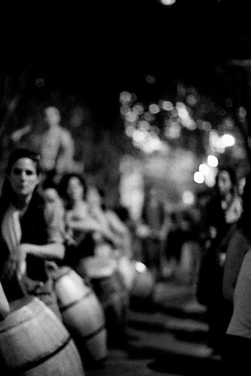 Candombe La Melaza, ensayo para la salida de Reyes.