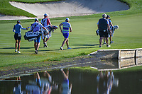 Laura Davies (ENG), Juli Inkster (USA), and Azahara Munoz (ESP) approach the green on 3 during round 1 of the 2018 KPMG Women's PGA Championship, Kemper Lakes Golf Club, at Kildeer, Illinois, USA. 6/28/2018.<br /> Picture: Golffile | Ken Murray<br /> <br /> All photo usage must carry mandatory copyright credit (&copy; Golffile | Ken Murray)