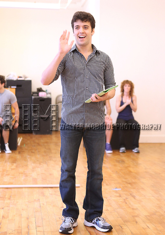 Director Marshall Pailet.with the cast from 'Triassic Parq The Musical'  during a Sneak Peek Rehearsal at the CAP21 Studios in New York City on 5/30/2012. © Walter McBride/WM Photography / Retna Ltd.