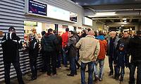 DFB Pokal 2011/12 2. Hauptrunde RasenBallsport Leipzig - FC Augsburg Fans beim Catering in der Red Bull Arena.