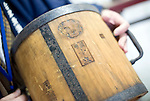 Photo shows one of the wooden measuring jars that were once produced by Suehiro Sake Brewery in Aizu-wakamatsu City, Fukushima, Japan on 15 March 2013.  Photographer: Robert Gilhooly