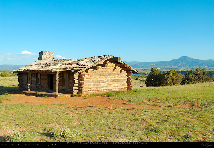 City Slickers Cabin and Pedernal Mountain, Ghost Ranch, Abiquiu, New Mexico