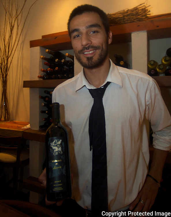 Juan Pablo Nieva is the sommelier for Siete Concinas de Argentina, a hot new restaurant in Mendoza.