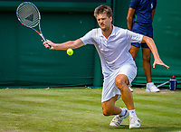 London, England, 5 th. July, 2018, Tennis,  Wimbledon, Men's doubles: Sander Arends (NED) <br /> Photo: Henk Koster/tennisimages.com